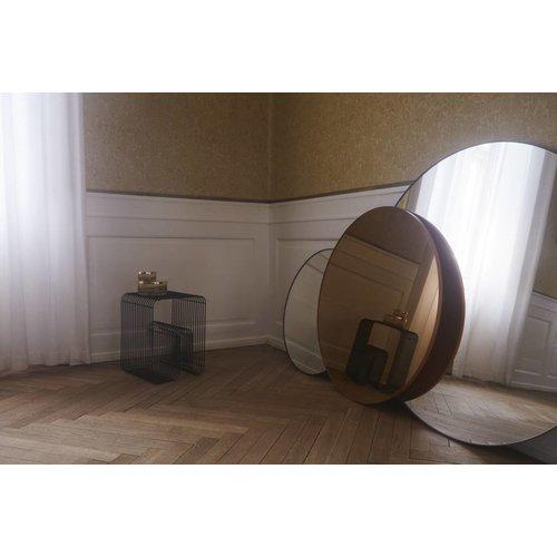 AYTM Circum ronde spiegel zwart helder glas