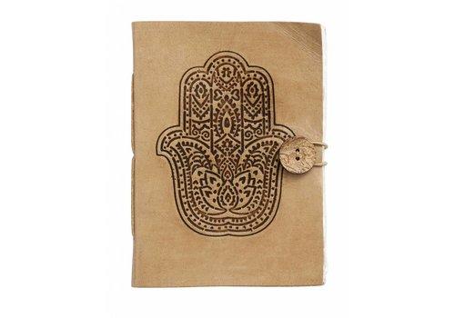 nordal Fatima hand notitieboek met lederen kaft 13x18