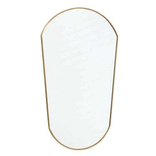 nordal Ovale spiegel goud 51 x 34 cm