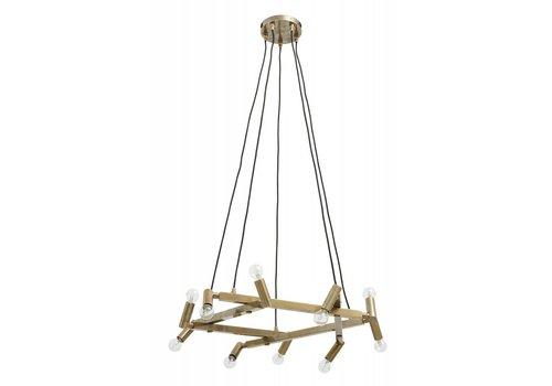 nordal Chandelier hanglamp messing 10 lampjes
