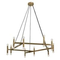 Chandelier hanglamp messing 20 lampjes