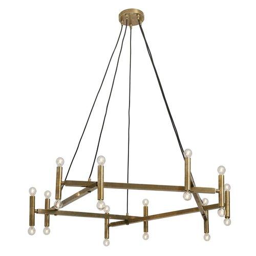 nordal Chandelier hanglamp messing 20 lampjes