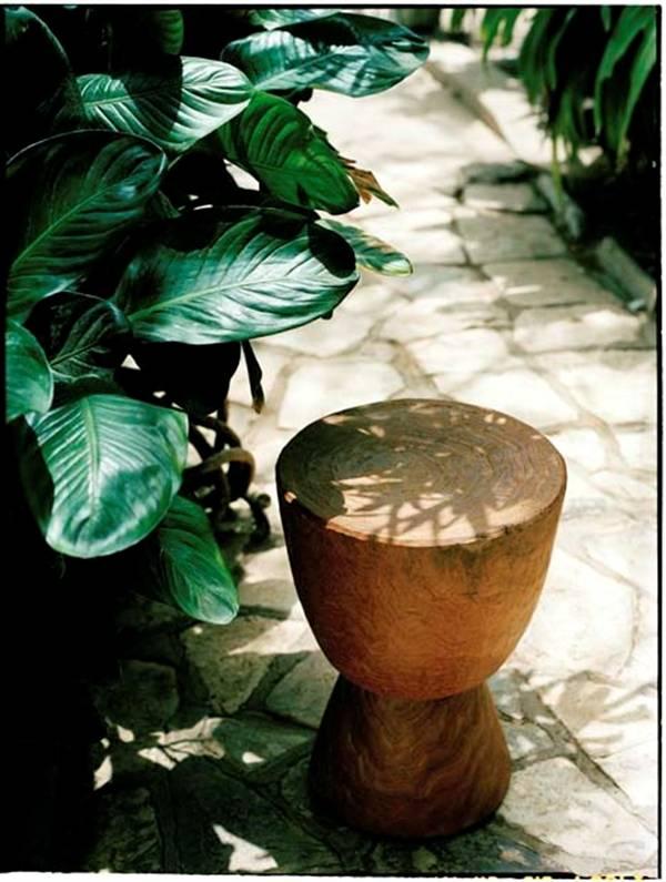 houten bijzettafe
