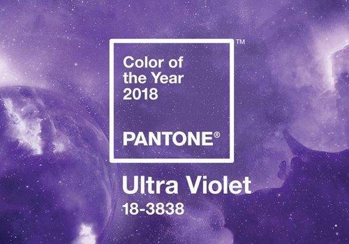 Ultra Violet kleur van het jaar 2018