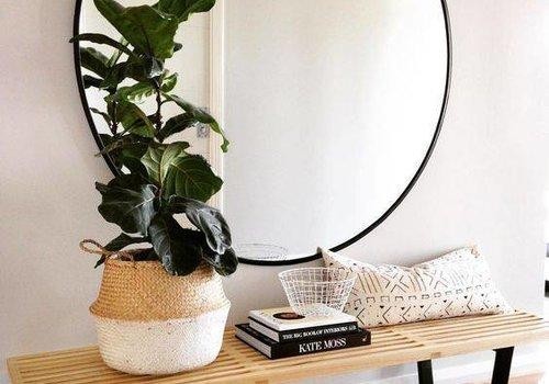 Maak een statement met een XL ronde spiegel