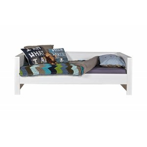 WOOOD Robin bedbank wit geborsteld grenenhout FSC