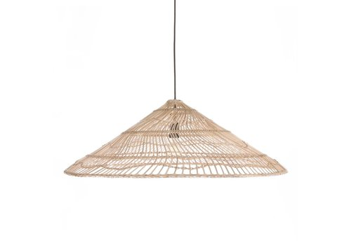 HK Living Wicker hanglamp driehoek naturel L