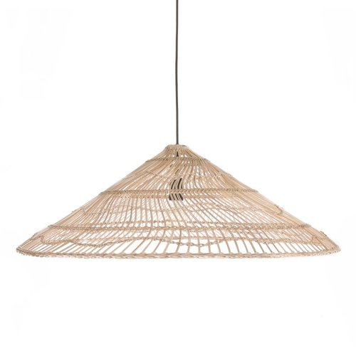 HK Living Wicker hanglamp driehoek naturel L