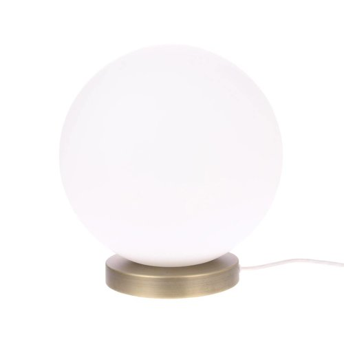 HK Living Bolvormige glazen tafellamp wit L