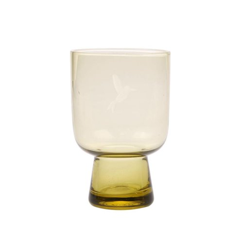 HK Living Chartreuse glas L gegraveerd