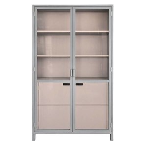 HK Living Display kast grijs/nude
