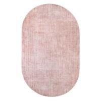 Ovalen viscose tapijt nude