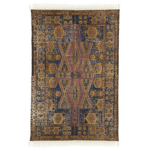HK Living Geprint katoen/jute tapijt stonewashed 120 x 180