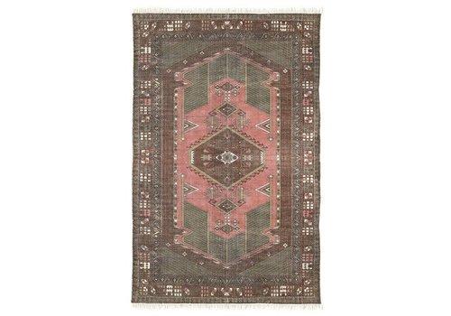 HK Living Geprint katoenen tapijt stonewashed (120x180)