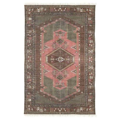 HK Living Geprint katoenen tapijt stonewashed 120 x 180
