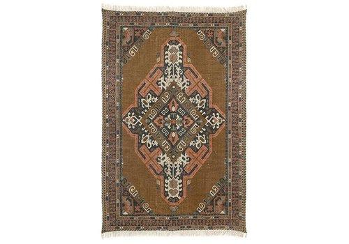 HK Living Geprint katoen/jute tapijt stonewashed (180x280)