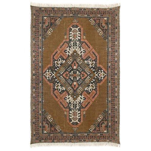 HK Living Geprint katoen/jute tapijt stonewashed 180 x 280