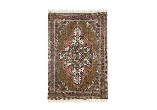 HK Living Geprint katoen/jute tapijt stonewashed (120x180)