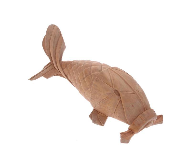 Handgemaakte houten karper