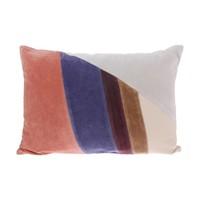 Velvet patch kussen multicolour B (35x50)