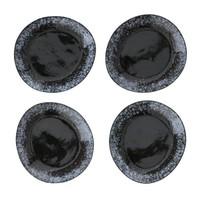 70's dessertbord zwart Ø 22 cm