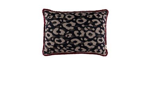 Pom Amsterdam Leopard kussen - Anthracite 40 x 60