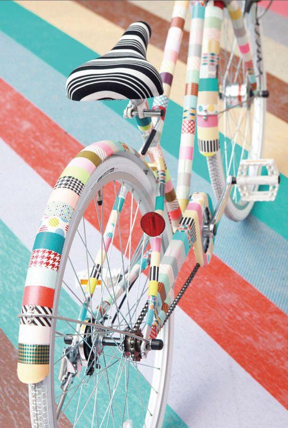 fiets met washi tape