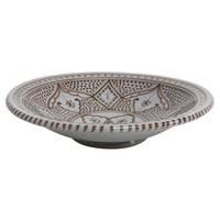 Souk schaal, keramiek - grijs/bruin large A