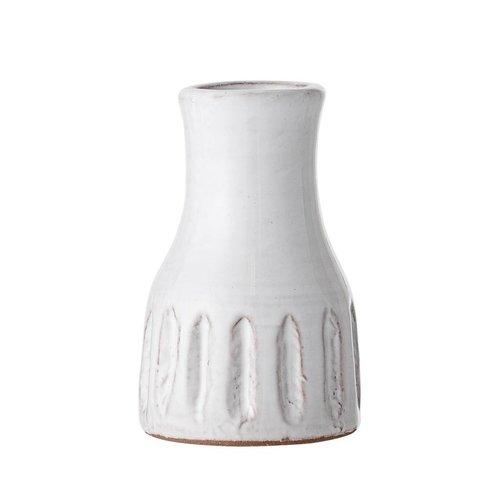 Bloomingville Vaas wit terracotta Ø6 x H9,5 cm