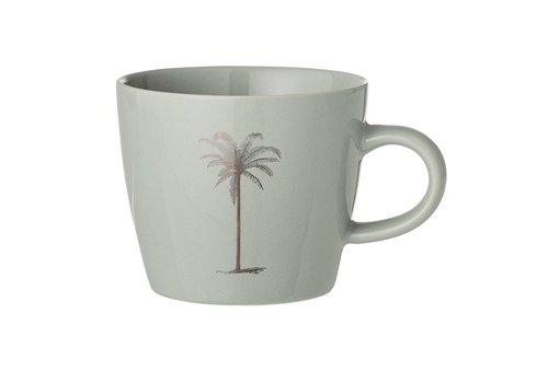Bloomingville Palmboom mok, groen, keramiek Ø9,5 x H8 cm