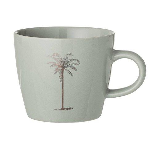 Bloomingville Palmboom mok, groen, keramiek Ø 9,5 x H8 cm