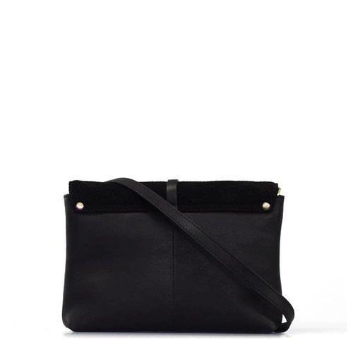 O My Bag Ella midi handtas - soft grain leather black