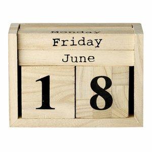 Bloomingville Kalender dices, wood