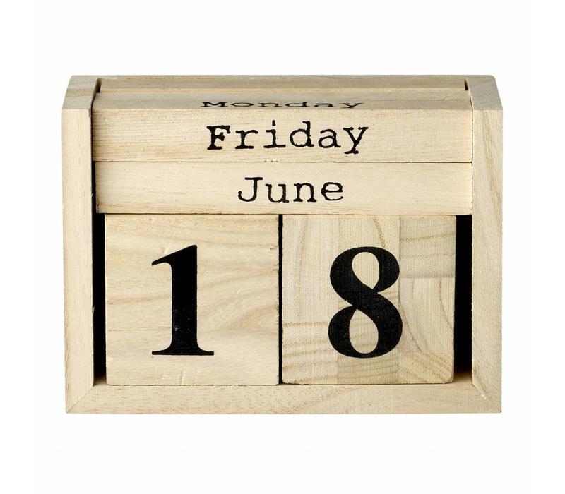 Kalender dices, wood