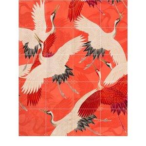 IXXI IXXI wanddecoratie - Kimono with cranes