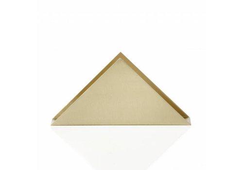 Ferm Living brass triangle servettenhouder