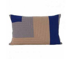 Kussen Ferm Living : Angle knit kussen dusty rose vida design