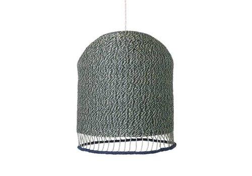 Ferm Living Braided lampshade  stoffig groen