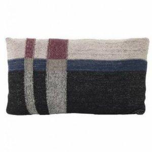 Ferm Living Medley Knit kussen small dark blue
