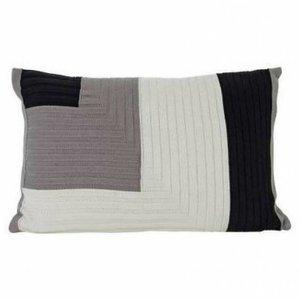 Ferm Living Angle Knit kussen grey