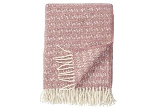 Klippan Sumba pink wollen plaid 130x200cm