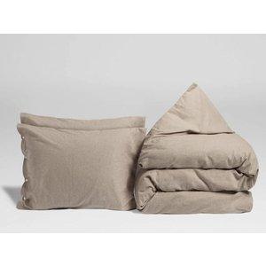 Yumeko Stone brown dekbedovertrek velvet flanel