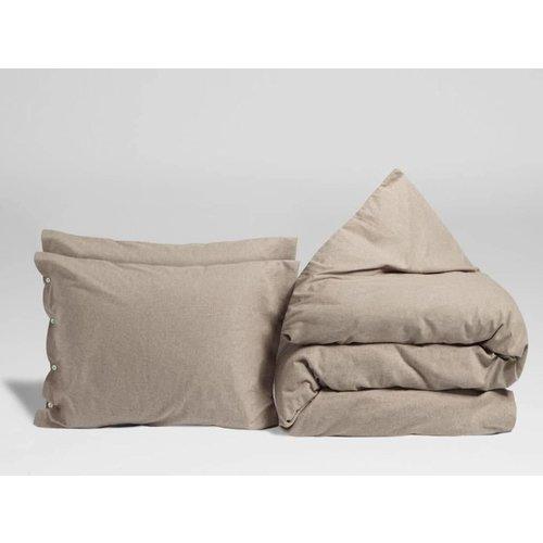 Yumeko Dekbedovertrek stone brown velvet flanel