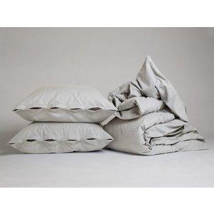 Yumeko Light grey dekbedovertrek velvet flanel