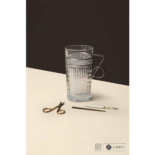 Libbey Radiant Cooler glas metalen handvat - set van 2