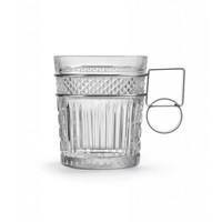 Radiant glas DOF metalen handvat - set van 2