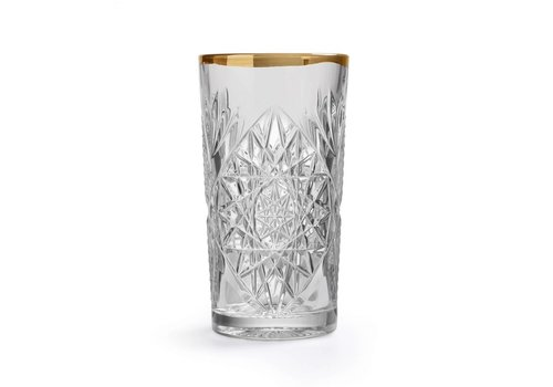 Libbey Hobstar Cooler imperf. gold rim glas - set van 2