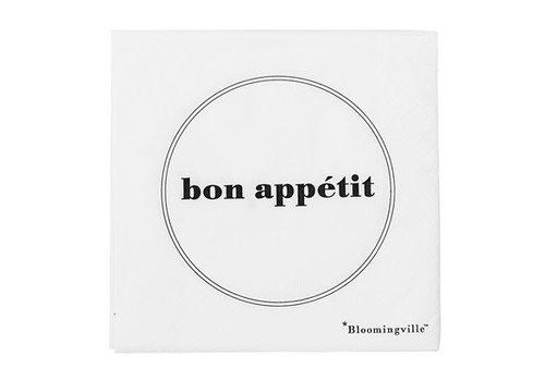 Bloomingville Papieren servetten bon appétit pak van 20