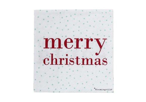 Bloomingville Papieren servetten merry christmas pak van 16