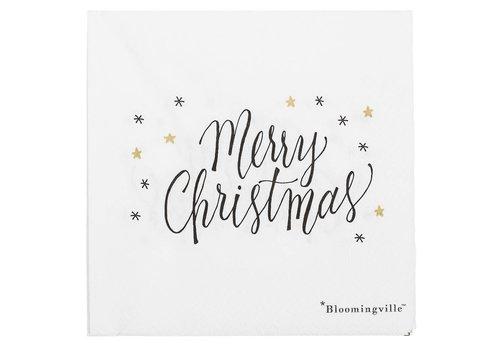 Bloomingville Papieren servetten Kerst pak van 20